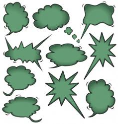 idea cloud bursts and bubbles vector image