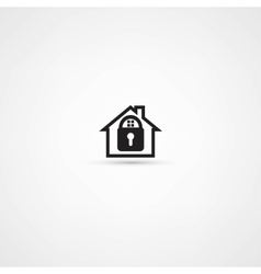 Lock house icon vector image
