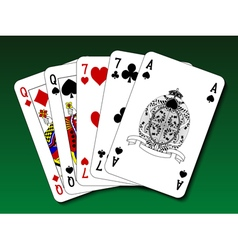 Poker hand - Two pair vector image vector image