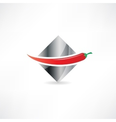 red hot chili peppers icon vector image