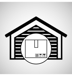 storage building cardboard box delivery icon vector image
