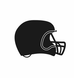 american football helmet icon simple monochrome vector image