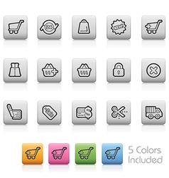 e-Shopping Buttons vector image vector image