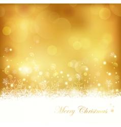 Golden glowing christmas background vector