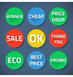 Set of bussiness sale promotion signs vector image vector image