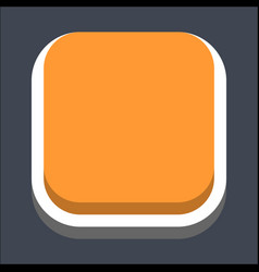 3d flat blank square web button vector image