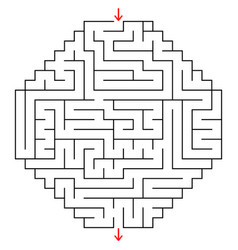 Abstract labyrinth an interesting game vector