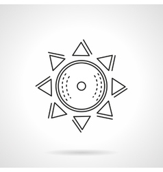 Abstract sun flat line icon vector image