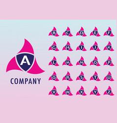 Alphabetic logo design template ninja security vector