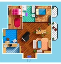 Architectural Floor Plan vector image