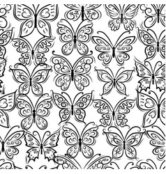 art butterflies seamless pattern for your design vector image