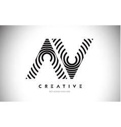 Av lines warp logo design letter icon made vector