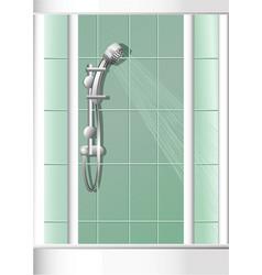 bathroom shower vector image
