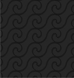 Black 3d horizontal spiral thin waves vector