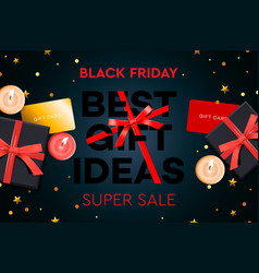 black friday super sale best gift ideas black vector image
