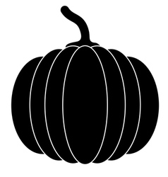 Black pumpkins for Halloween vector image