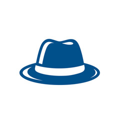 blue fedora hat vector image