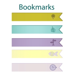 Bookmark icons pastel vector