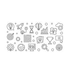 Brainstorming creative outline vector