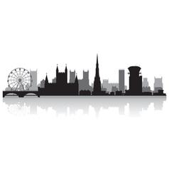 Bristol city skyline silhouette vector image