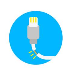 broken charger vector image