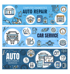 Car service auto repair and vehicle spare parts vector