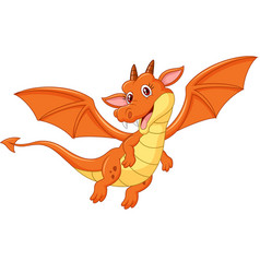 Cartoon happy dragon vector