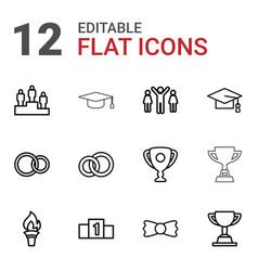 Ceremony icons vector