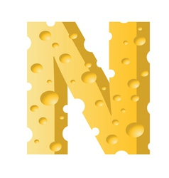 cheese letter N vector image