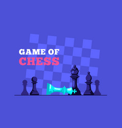 chess king lying on board and queen figure vector image