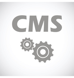 Cms black icon vector