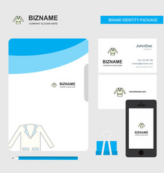 coat business logo file cover visiting card and vector image