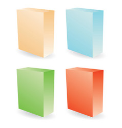 color boxes vector image