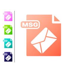 Coral msg file document download msg button icon vector