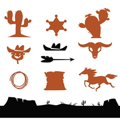 Cowboys set vector image