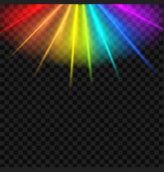 Creative rainbow glare vector