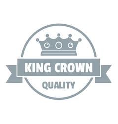 Crown award logo simple gray style vector