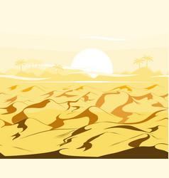 Desert dunes egyptian landscape background sand vector