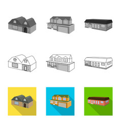 design facade and housing logo set of vector image