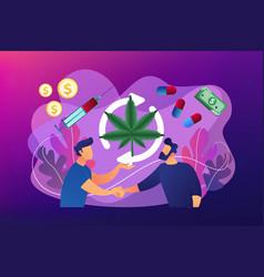 Drug trafficking concept vector