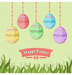 Easter backdrop vector image