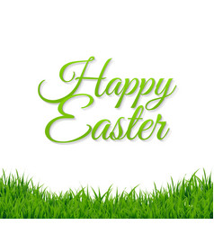 Easter grass border vector