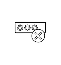 Entering login and fail hand drawn outline doodle vector