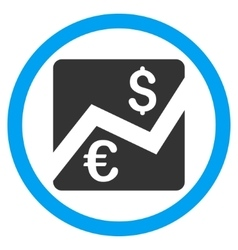 Euro Dollar Chart Flat Rounded Icon vector