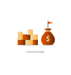 financial stability concept budgeting vector image