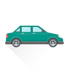Flat teal saloon car body style icon vector