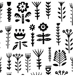 folk art pattern vector image