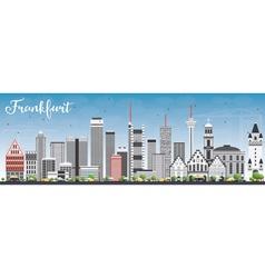 Frankfurt Skyline with Gray Buildings vector image