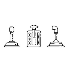 gearbox icons set outline style vector image