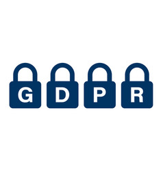 General data protection regulation padlock icon vector